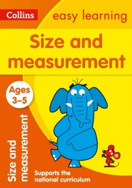 Size and Measurement Ages 3-5 : Ideal for Home Learning by Collins Easy Learning