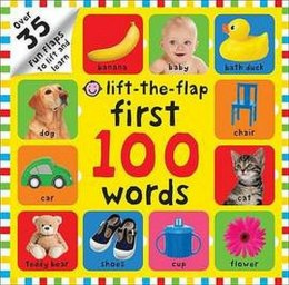 Lift-the Flap First 100 Words by Roger Priddy ( Board Book)