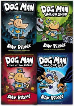 Adventures of Dog Man Collection Dav Pilkey 4 Books Set