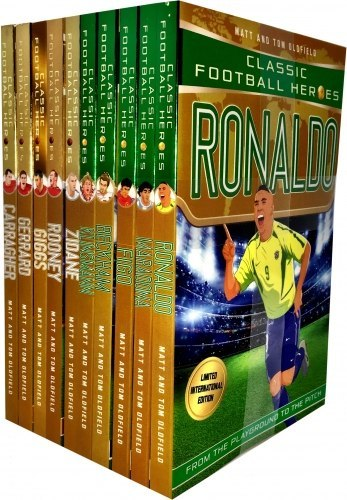 Classic Football Heroes Legend Series Collection 10 Books Set