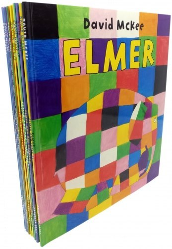 Elmer 10 Book Collection Set - Children Picture Flats Illustrated Elephant Pack
