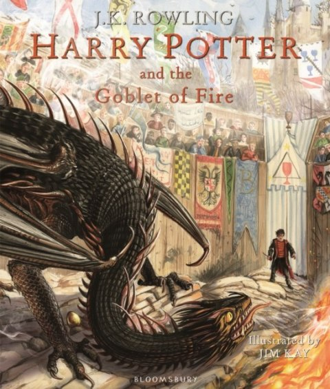 Harry Potter and the Goblet of Fire : Illustrated Edition by J.K. Rowling
