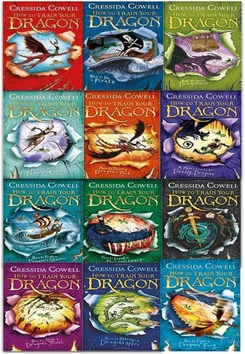 How To Train Your Dragon 12 Books Collection Set By Cressida Cowell