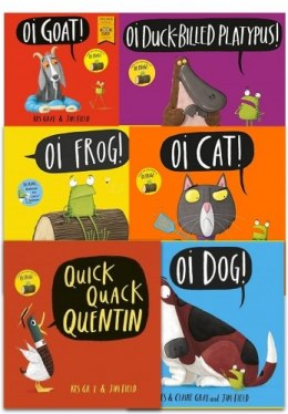 Kes Gray Collection 6 Books Set (Oi Frog, Oi Dog, Quick Quack Quentin, Oi Cat, Oi Goat, Oi Duck-billed Platypus)