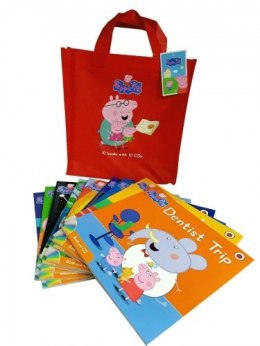 Peppa Pig 10 Story Books Set Collection with CDs (Red Bag)